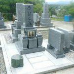 香川県坂出市の角山霊園で内垣石(福岡県産)の墓石を建てさせて頂きました。
