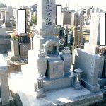 坂出市自治会墓地にて庵治中目特級石の墓石を建てさせて頂きました。