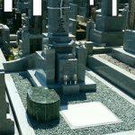 丸亀市営墓地で庵治中目特級石の墓石を建てさせて頂きました