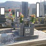 坂出市自治会墓地で庵治細目特級石の墓石を建てさせて頂きました。