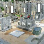 高松市営墓地で庵治中目特級石の墓石を建てさせて頂きました。