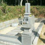 岡山県玉野市の自治会墓地で庵治細目特級石の墓石を建てさせて頂きました
