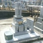 坂出市自治会墓地で9寸庵治中目特級石の墓石を建てさせて頂きました