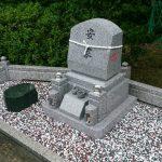 坂出市角山墓地で庵治中目特級石のデザイン墓石を建てさせて頂きました