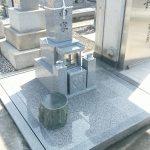 坂出市営墓地で8寸大島石の墓石を建てさせて頂きました