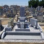 庵治石中目特級で10寸神戸型3重台の墓石を建立させて頂きました。