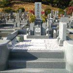 丸亀市営墓地で10寸大島石の墓石を建てさせて頂きました