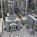 高松市楠上町の地域墓地の庵治石のお墓をリフォーム(磨き直し)させていただきました。