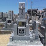 坂出市の浜墓地に庵治石のお墓が完成しました。