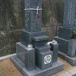小豆島に庵治石細目の夫婦墓を建てさせていただきました。