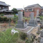 坂出市の地域墓地でお墓の傾き直しの工事をいたしました。