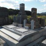 東かがわ市の地域墓地で庵治石と由良石のお墓のリフォーム工事を行いました。