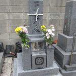 高松市の寺院墓地に庵治石細目の9寸和型墓地が完成しました。