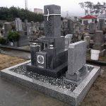 香川県豊浜町に庵治細目石の9寸和型墓石が完成しました。