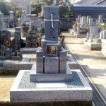 さぬき市の寺院墓地に庵治細目石の9寸和型墓石が完成しました。