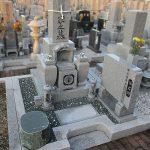 木田郡三木町の霊園に庵治中目特級石の9寸和型墓地が完成しました。