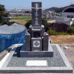 香川県詫間町の地域墓地にあるお墓の傾き直し、磨き直しのリフォーム工事を行いました。