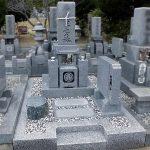 香川県丸亀市の青ノ山墓地公園に大島石の和型墓石が完成しました。