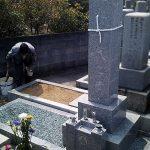 坂出市の地域墓地で庵治石の神道式のお墓をリフォームいたしました。