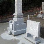 高松市国分寺町の地域墓地でお墓の移設工事を行いました。