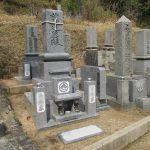 岡山市東区の地域墓地で庵治石の和型墓地の建立とリフォーム工事を行いました。