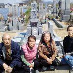 高松市内の自治会墓地に庵治中目特級石の和型墓石が完成しました。