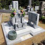 香川県綾川町の地域墓地でお墓のリフォーム工事を行いました。