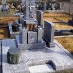香川県三木町の自治会墓地に庵治細目石の和型墓石が完成しました。
