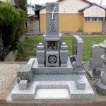 坂出市の地域墓地に庵治細目石の和型墓石が完成しました。