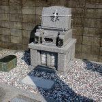 高松市香川町の地域墓地に庵治中目特級石のデザイン墓石が完成しました。