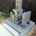 香川県観音寺市の寺院墓地に庵治細目石の和型墓石が完成しました。