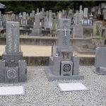 高松市国分寺町の地域墓地で改修工事、複数のお墓をまとめて庵治石の和型墓石に建て替えました。
