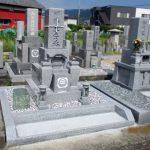 高松市檀紙町の地域墓地に、庵治中目特級石の9寸神戸型の和型墓石を建てさせていただきました。
